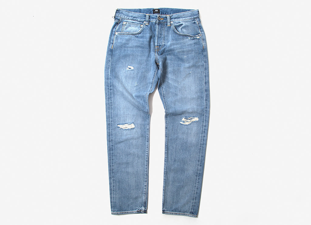 Edwin ED-55 Made In Japan Manami Repair Wash Jeans - Indigo