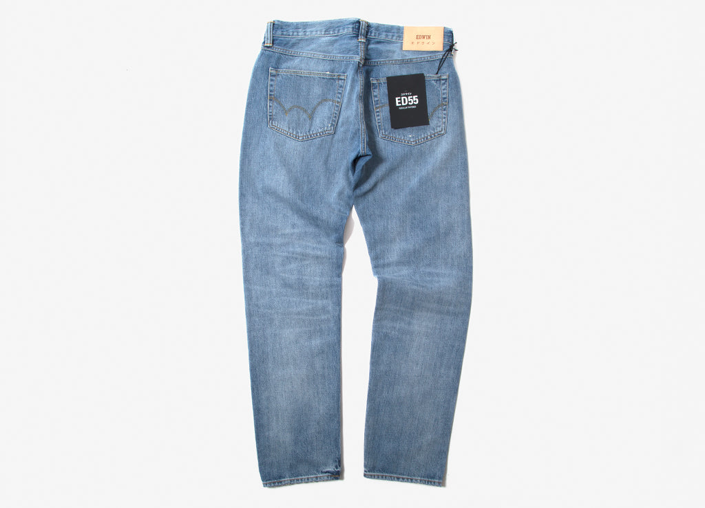 251499ebd4 Edwin ED-55 Made In Japan Manami Repair Wash Jeans - Indigo