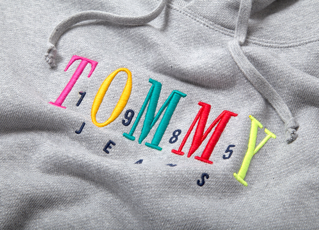 Tommy Jeans Graphic Pullover Hoody - Light Heather Grey