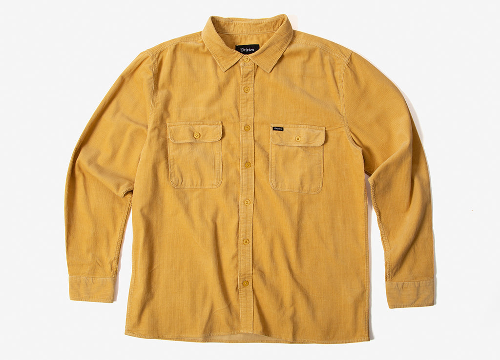 Brixton Archie Cord Shirt - Nugget Gold