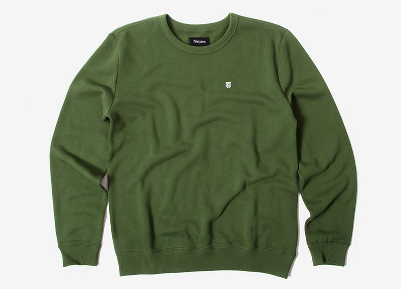Brixton B-Shield Crewneck Sweatshirt - Leaf