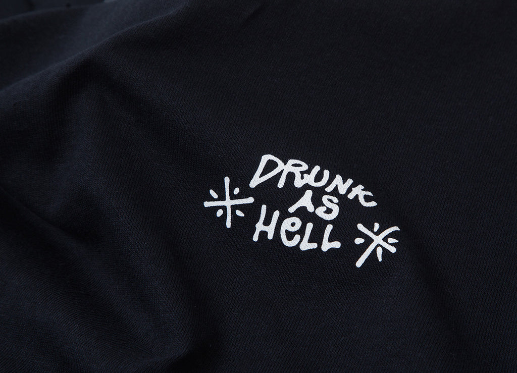 The Quiet Life Drunk As Hell T Shirt - Black