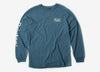 Brixton Palmer SV Long Sleeve T Shirt - Ornate Blue