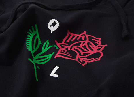 The Quiet Life Rose Pullover Hoody - Black