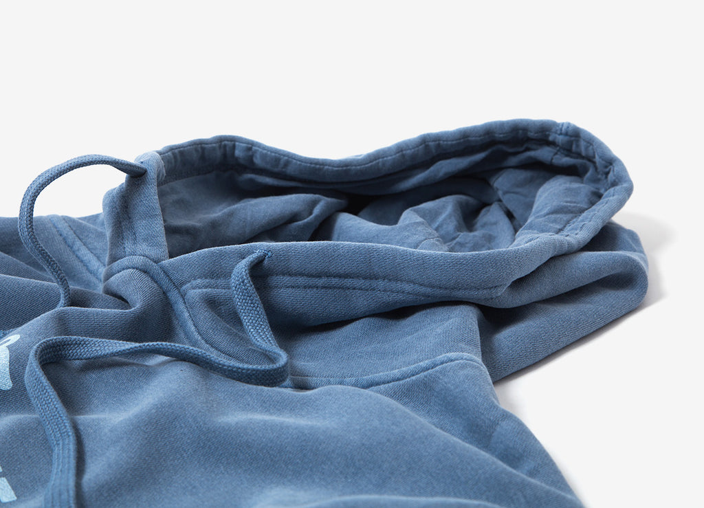 The Quiet Life Shhh Pigment Dyed Pullover Hoody - Blue