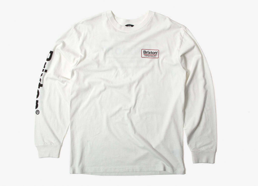 Brixton Palmer SV Long Sleeve T Shirt - Off White