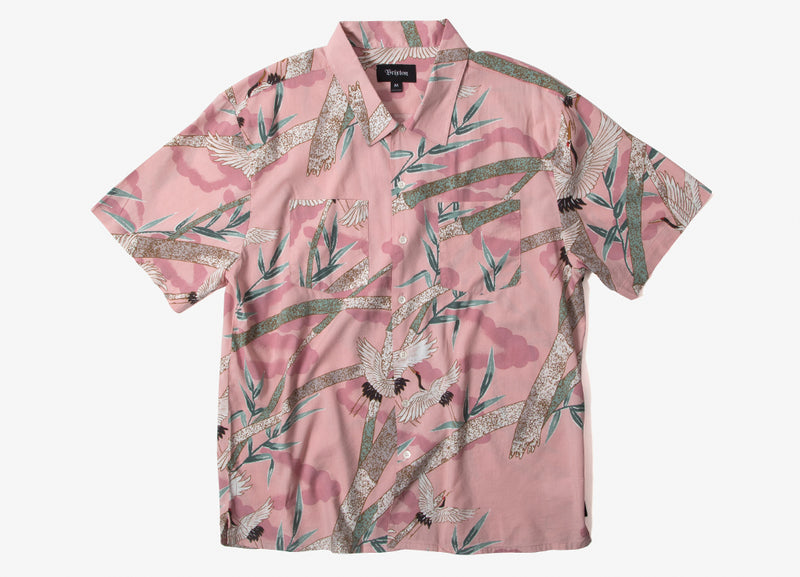 Brixton Lovitz Short Sleeve Shirt - Dusty Pink