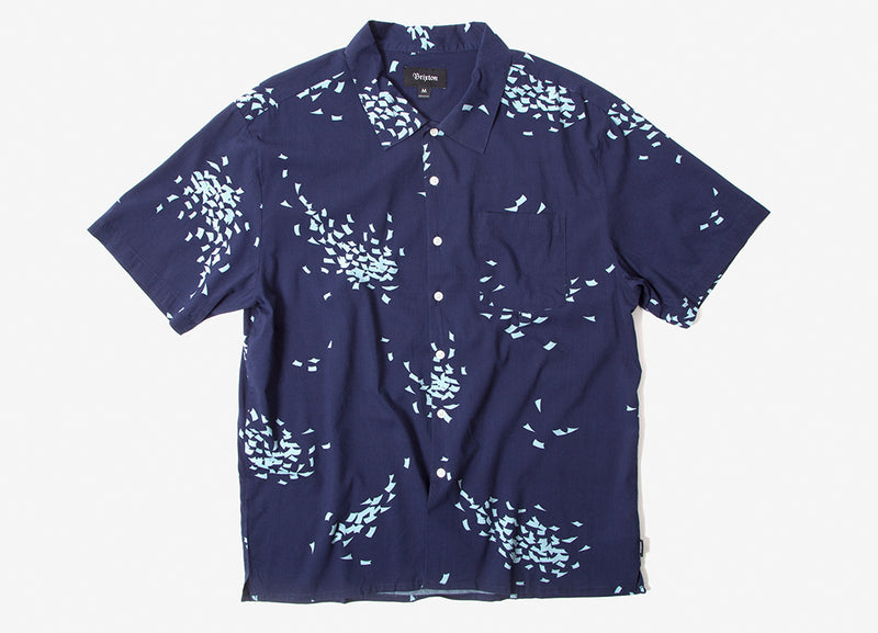 Brixton Lovitz Short Sleeve Shirt - Patrol Blue