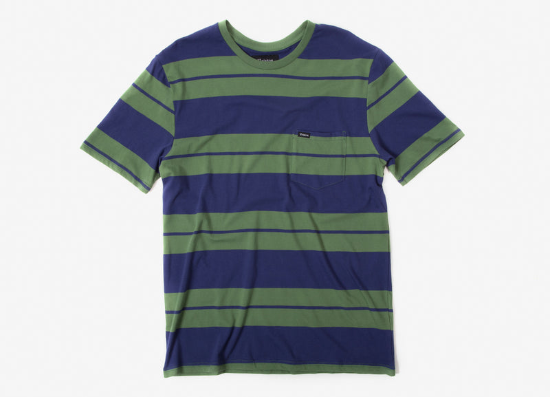 Brixton Hilt Knit Pocket T Shirt - Leaf/Patriot Blue
