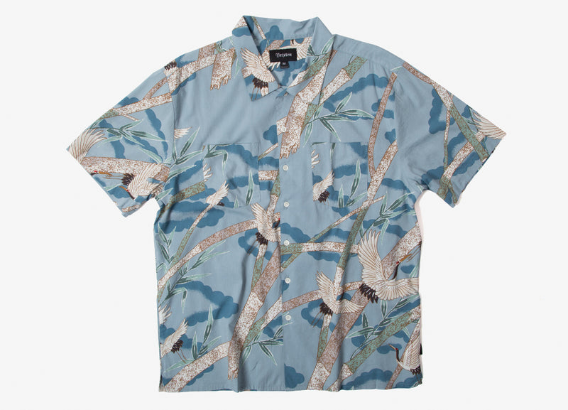 Brixton Lovitz Short Sleeve Shirt - Bluestone