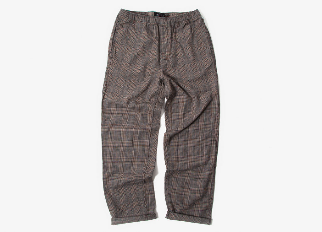 Brixton Steady Elastic Waistband Pants - Grey Plaid