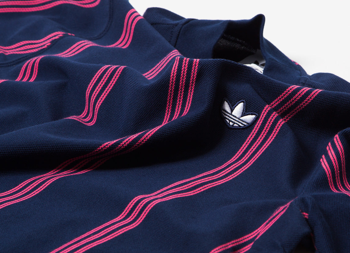 adidas Originals Stand Collar T Shirt - Night Indigo