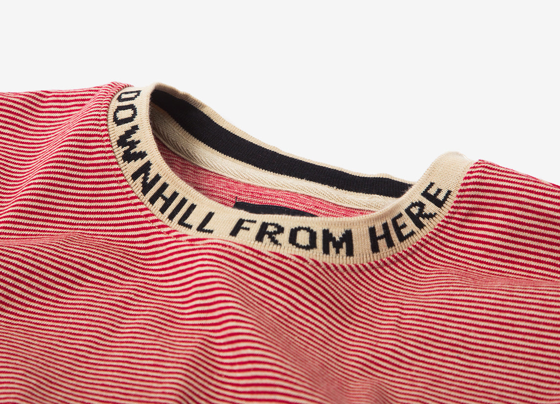 HUF Downhill Stripe Long Sleeve T Shirt - Red
