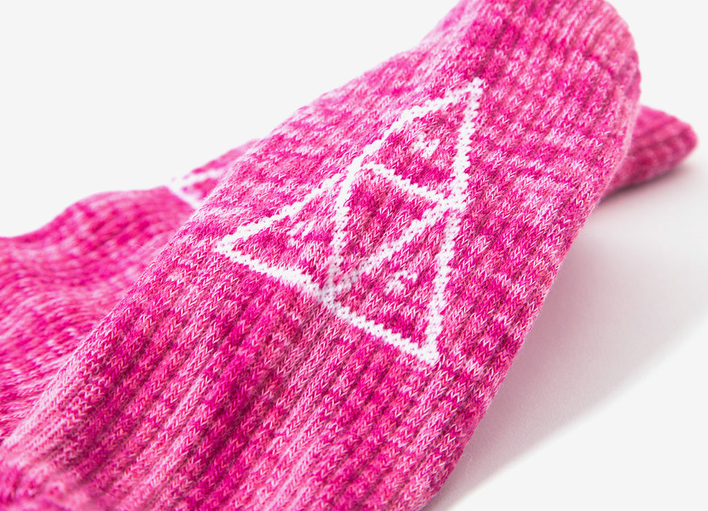 HUF Melange Triple Triangle Socks - Pink