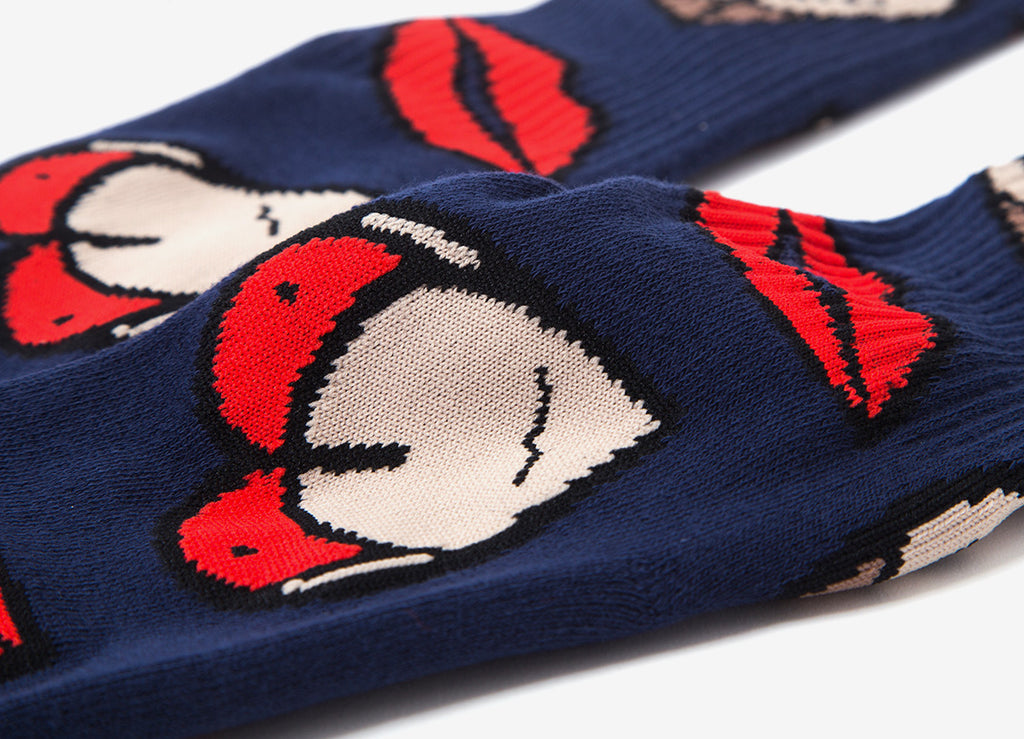 HUF T & A Socks - Dark Navy