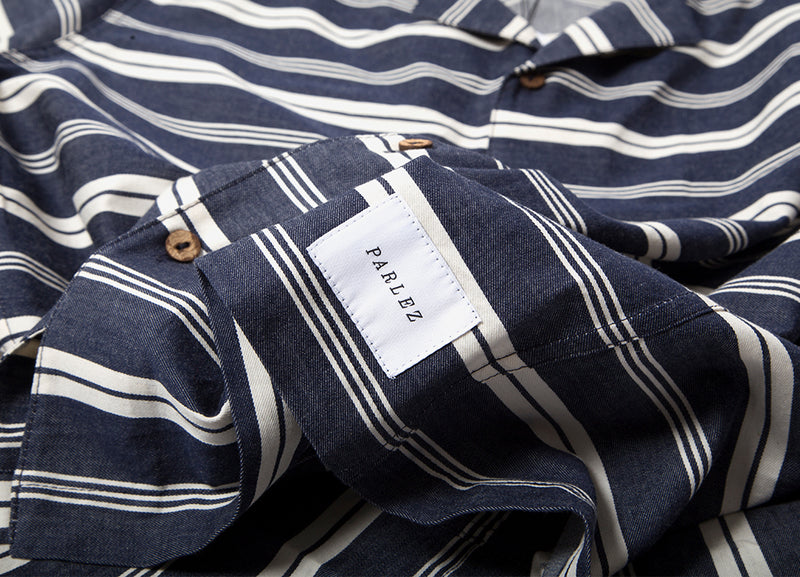 Parlez Pedro Short Sleeve Shirt - Navy