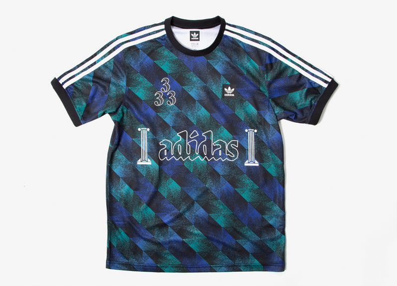 adidas Originals Towning Jersey - Black/Action Green/Action Blue