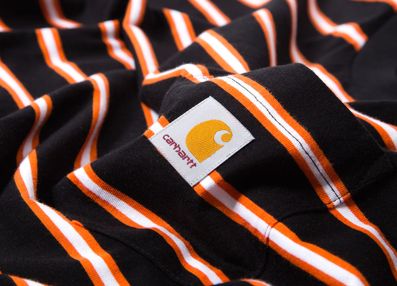 Carhartt Houston Stripe Pocket Stripe T Shirt - Black