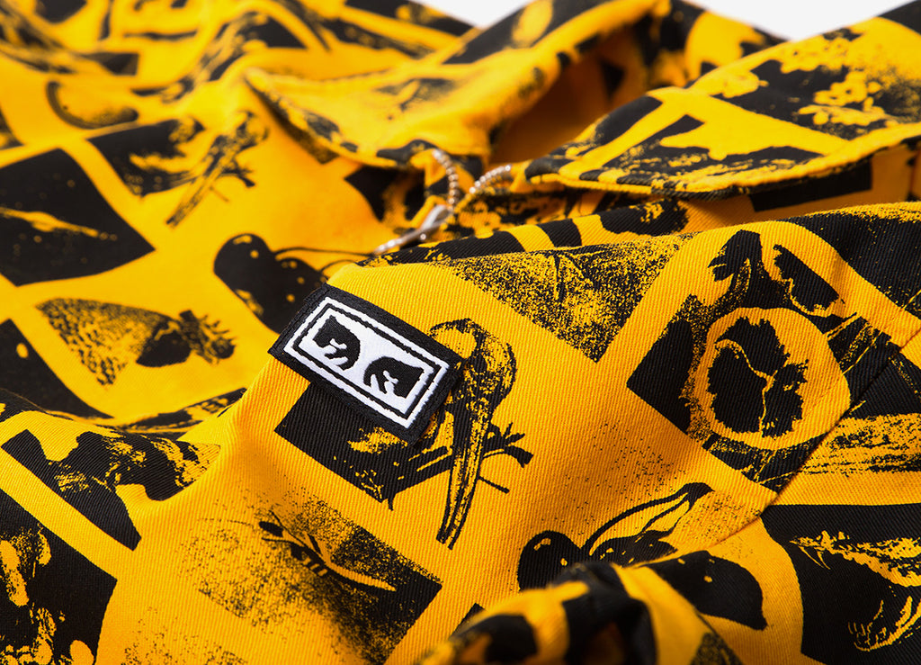 Obey Chaos Trucker Jacket - Zine Energy Yellow