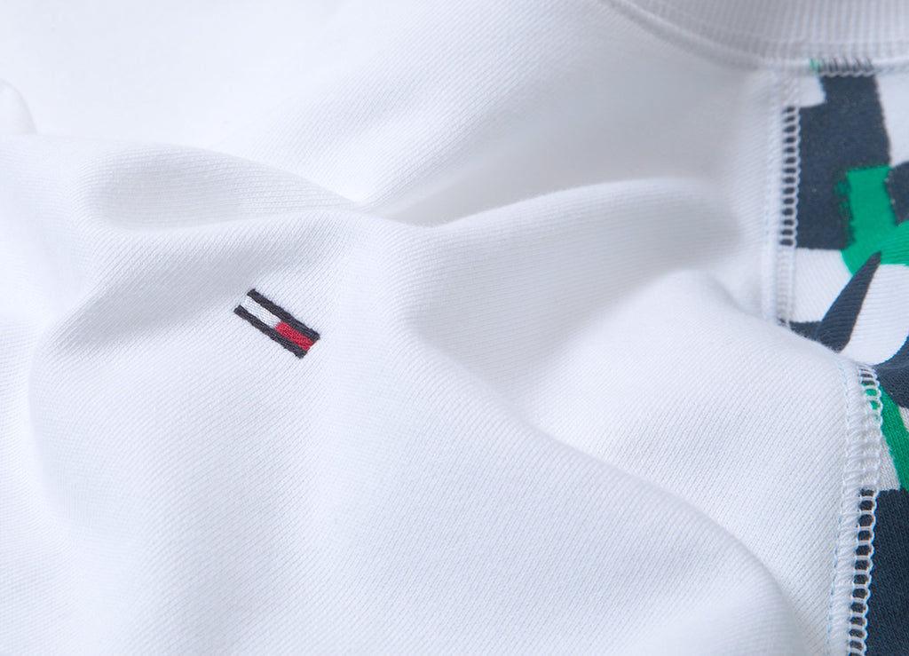Tommy Jeans Racing Logo Crewneck Sweatshirt  - Classic White