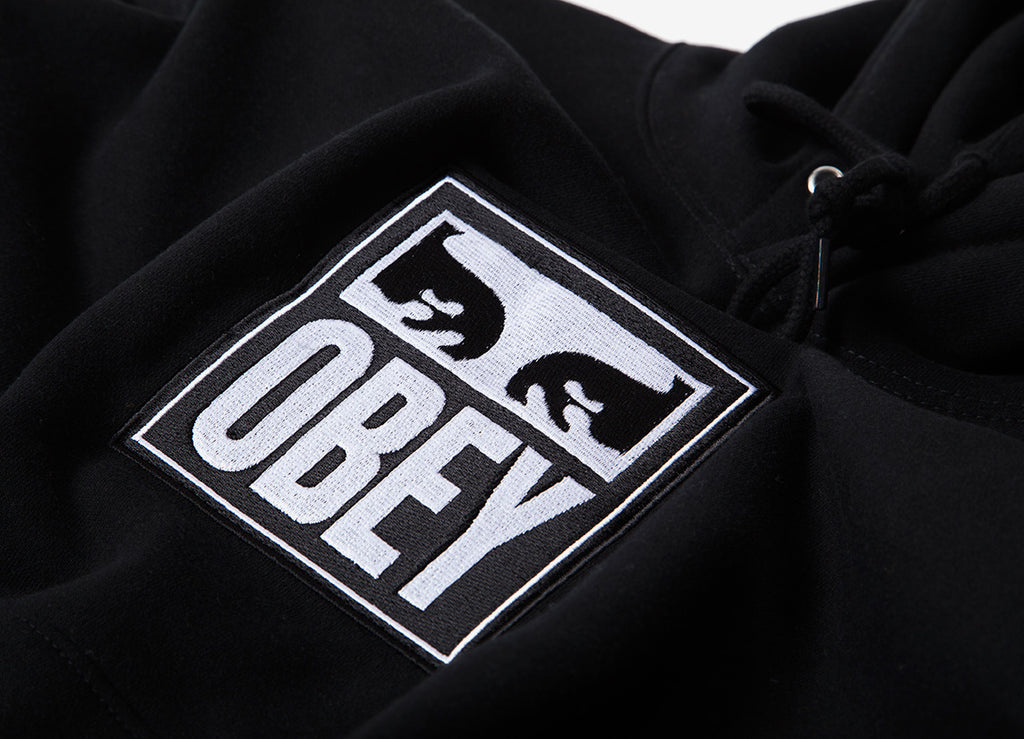 Obey Split Eyes Pullover Hoody - Black