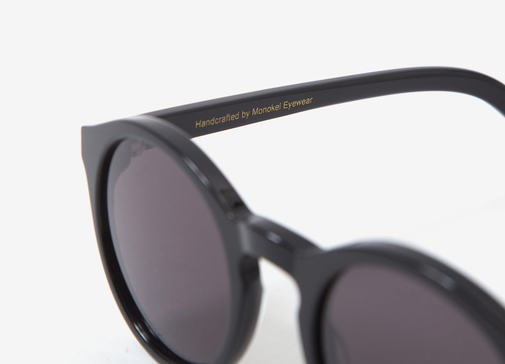 Monokel Barstow Sunglasses - Black (Solid Grey Lens)