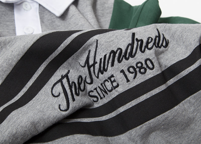 The Hundreds Willow Rugby Polo Shirt - Athletic Heather
