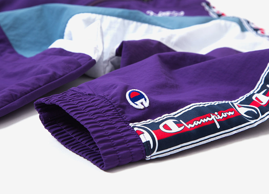 Champion Reverse Weave Full Zip Track Top - Purple