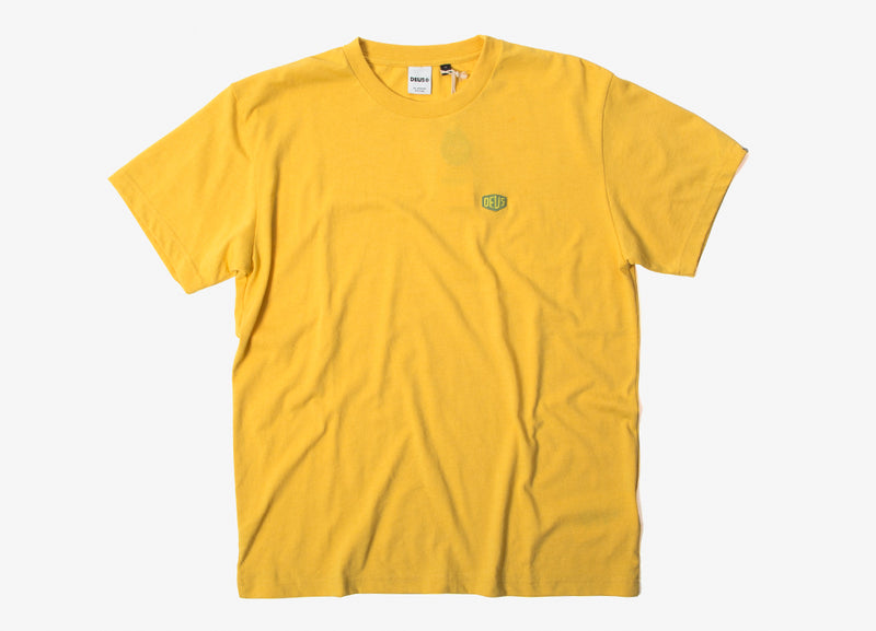 Deus Ex Machina Steve Shield T Shirt - Aspen Gold