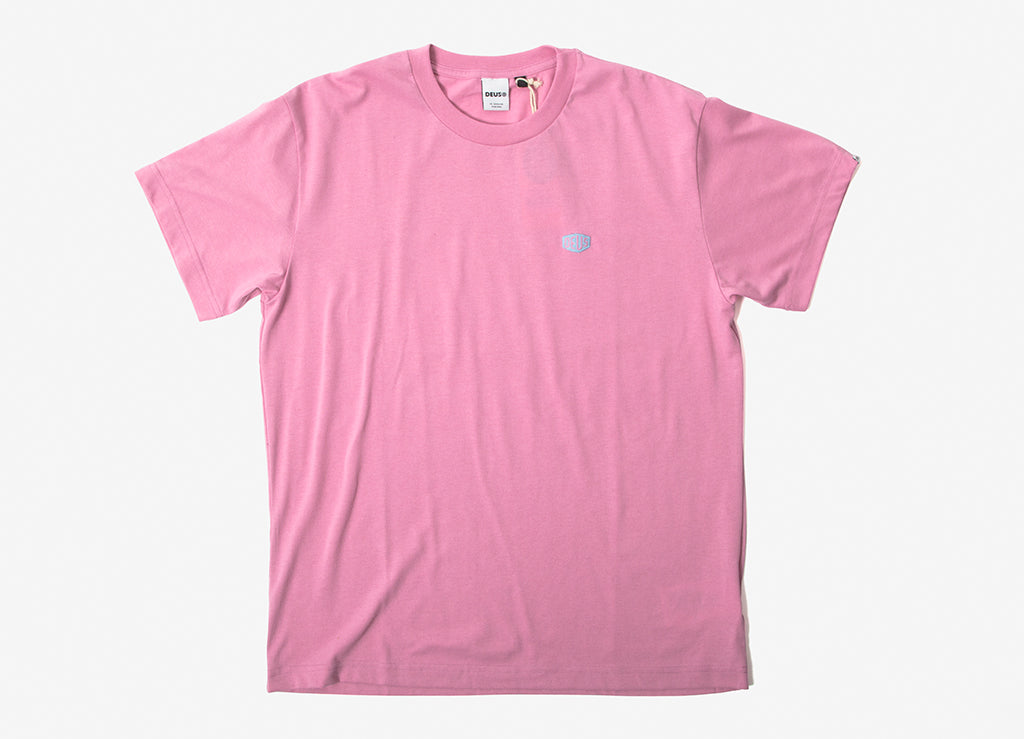 Deus Ex Machina Steve Shield T Shirt - Prism Pink