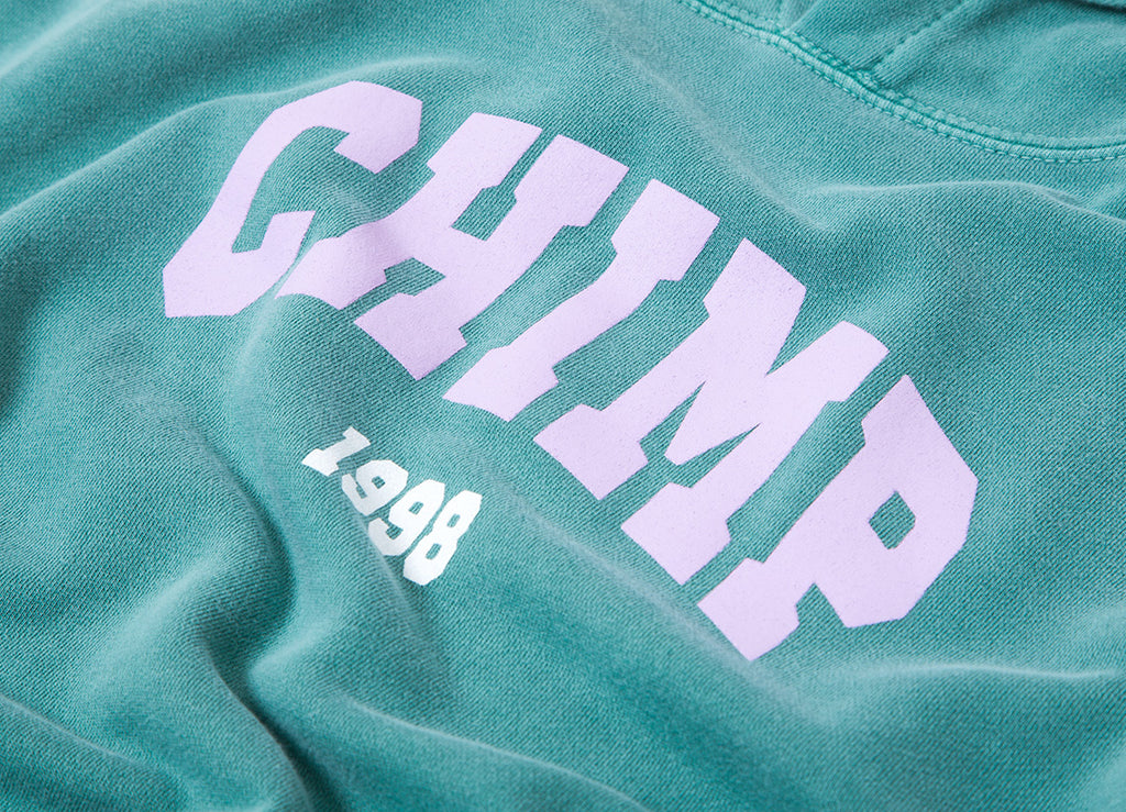 Chimp College Pigment Dyed Pullover Hoody - Light Green