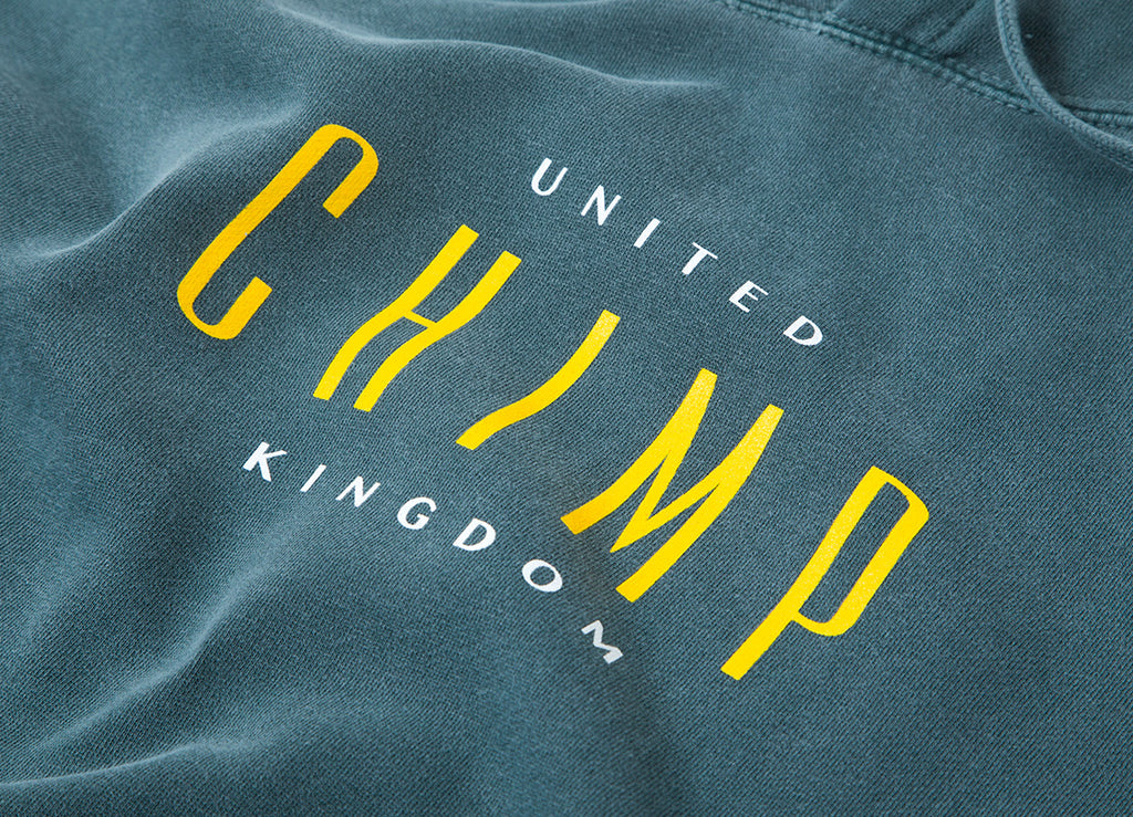 Chimp United Pigment Dyed Pullover Hoody - Willow