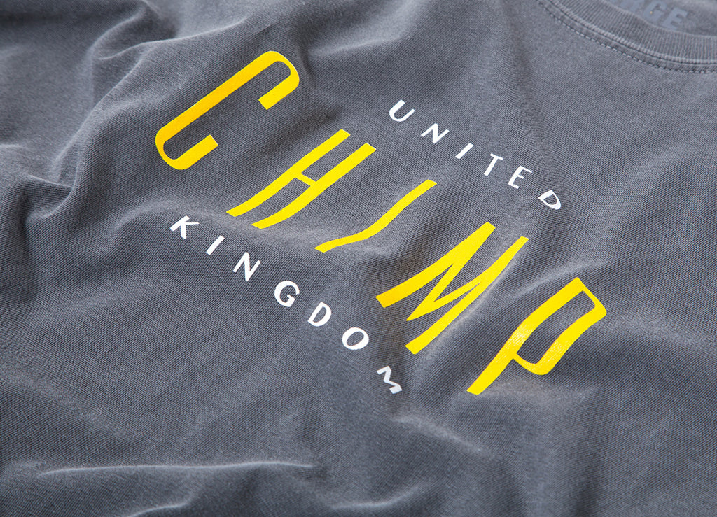 Chimp United Pigment Dyed T Shirt - Pepper