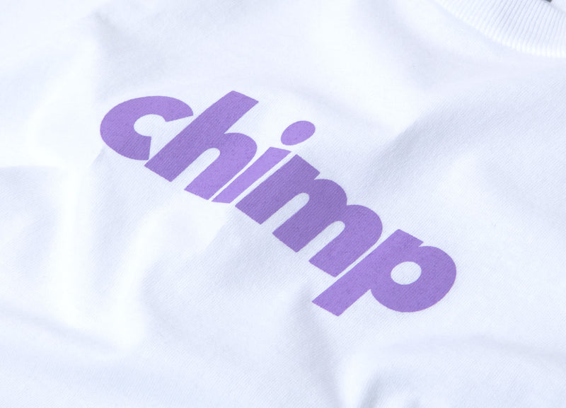 Chimp Slant T Shirt - White