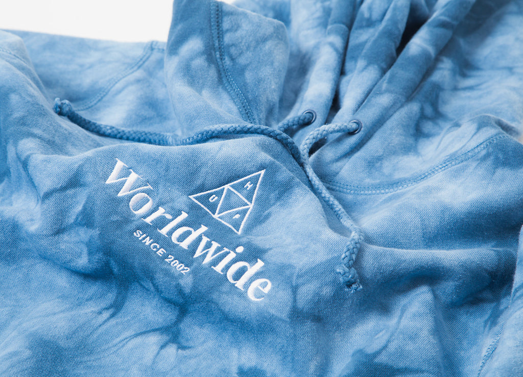 HUF Worldwide Triple Triangle Pullover Hoody - Light Blue