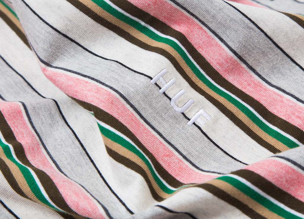 HUF Off Shore Striped T Shirt - Pink
