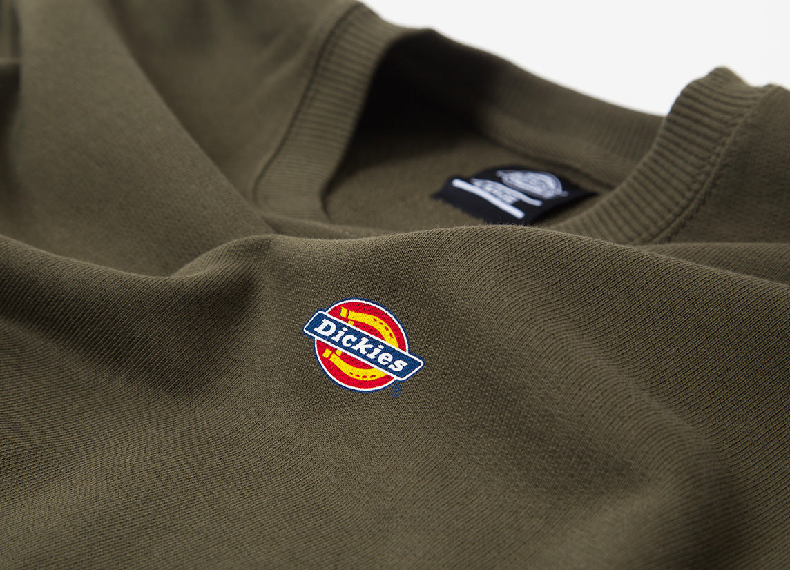 Dickies Seabrook Crewneck Sweatshirt - Dark Olive