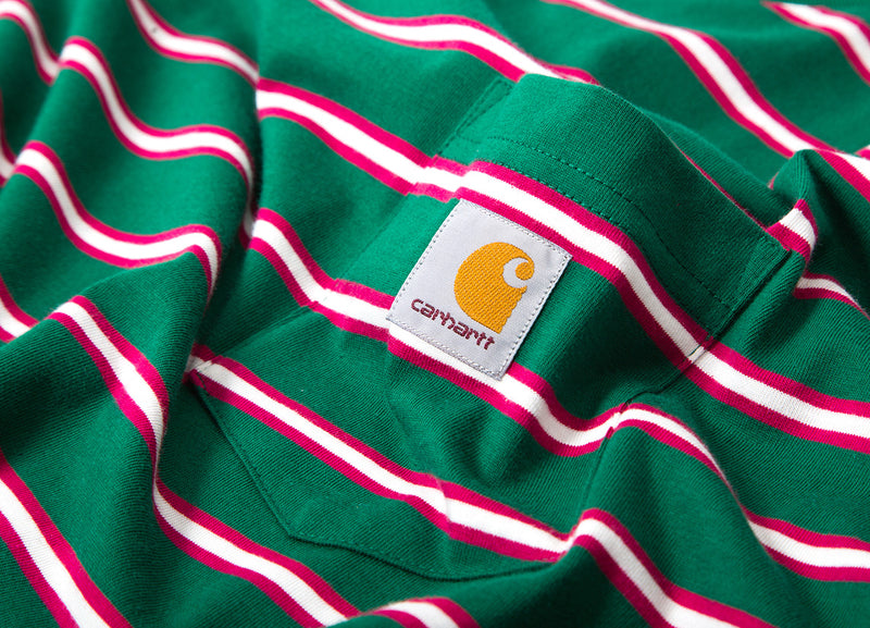 Carhartt Houston Stripe Pocket Stripe T Shirt - Dragon