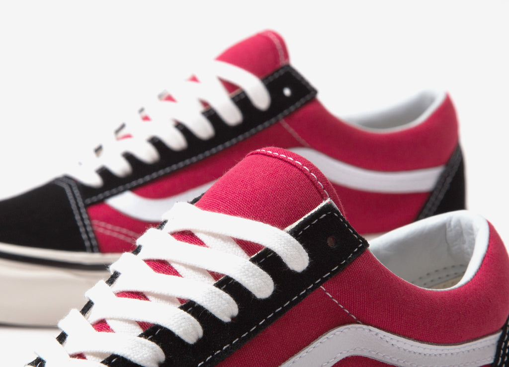 Vans Old Skool 36 DX 'Anaheim Factory' Shoes - OG Black/OG Red