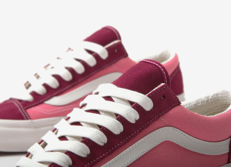 Vans Style 36 DX 'Anaheim Factory' Shoes - Rumba Red/Blanc De Blanc