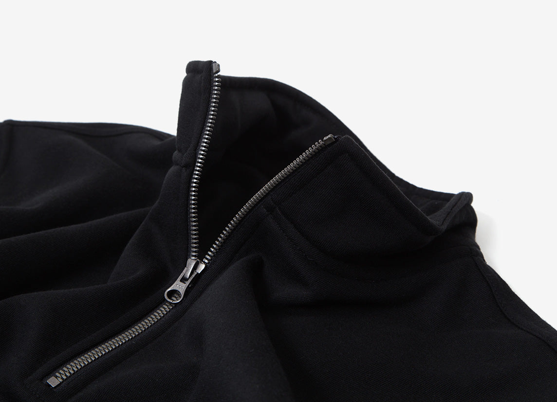 Parlez Kiku 1/4 Zip Sweatshirt - Black