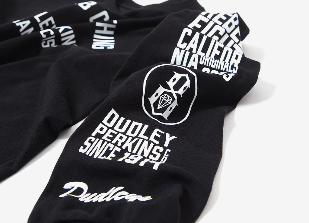 Rebel8 Dudleys LS T Shirt - Black