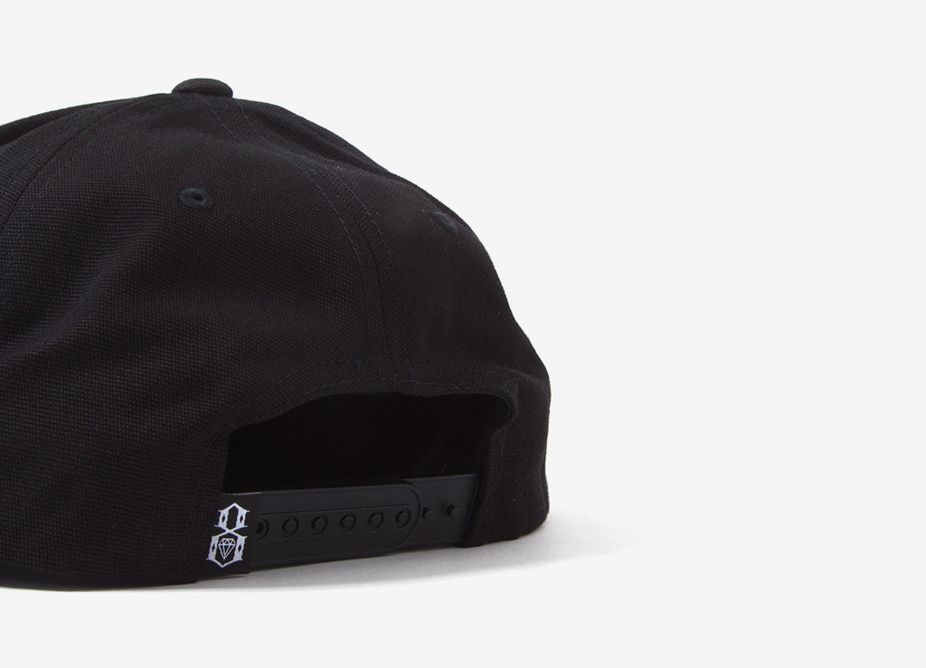 Rebel8 Displaced Snapback Cap - Black