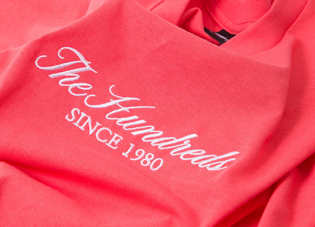 The Hundreds Rich Embroidery T Shirt - Coral