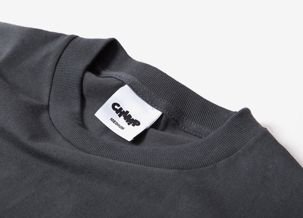 Chimp Heavyweight Premium Basic T Shirt - Charcoal