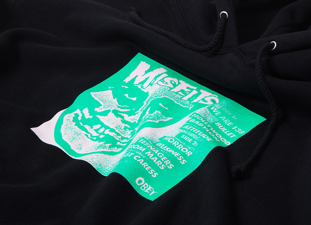 "Obey x The Misfits 7"" Cover Pullover Hoody - Black"