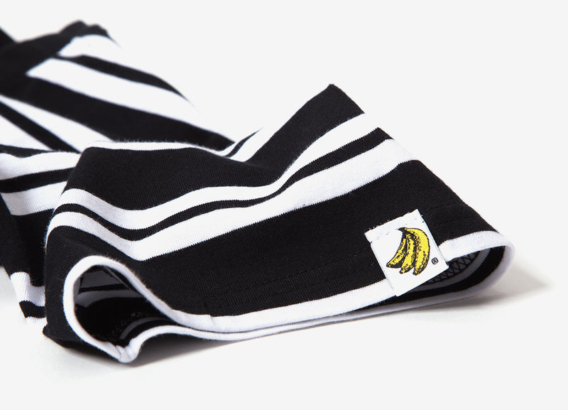 Chimp Heavyweight Premium Classic Stripe T Shirt - Black/White