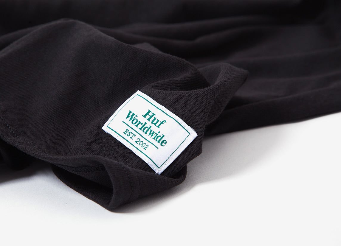 HUF 420 Smokers Lounge Valet L/S T Shirt - Black