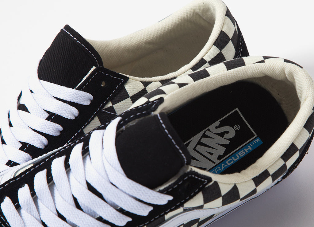 Vans Old Skool Checkerboard Lite Shoes Blackwhite