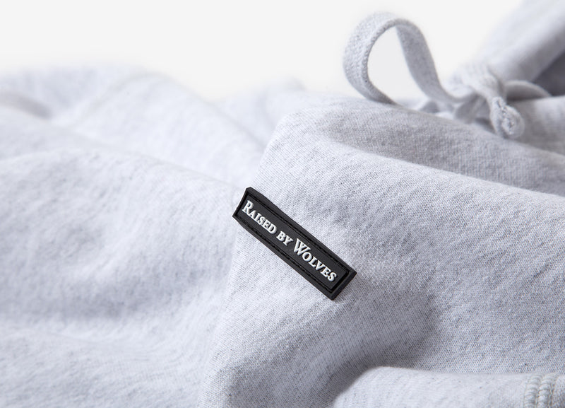 Raised By Wolves PVC Hoody - Grey
